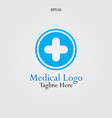 the cross logo for medical and pharmaceutical vector image vector image