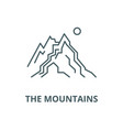 the mountains line icon linear concept vector image vector image