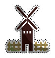windmill energy isolated icon vector image vector image
