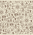 line art nature seamless pattern - seamless vector image