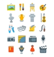 art and crafts flat icons set vector image vector image