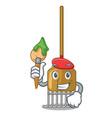 artist rake character cartoon style vector image vector image