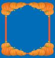 autumn orange pumpkins border design vector image vector image