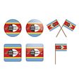 badges with flag of Swaziland vector image