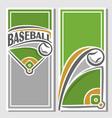 banner baseball diamond vector image vector image