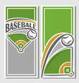 banner of baseball diamond vector image vector image