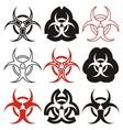 Biohazard symbols vector image vector image
