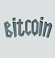 bitcoin text on stone vector image vector image