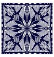 black bandana print oriental floral shawl pattern vector image vector image