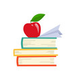 book icon books in various angles stack vector image vector image