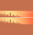 boston beautiful skyline scenery banner vector image