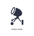 cement mixers icon on white background simple vector image vector image