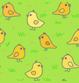 chickens seamless pattern vector image vector image