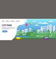 city landing page paper summer town in origami vector image vector image