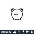 Clock icon flat vector image vector image