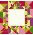 Colorful Geometric Pattern Card Design