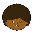 comic cartoon unhappy boy vector image