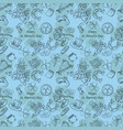 contour seamless pattern 4 on the theme of st vector image