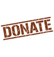 donate stamp vector image vector image