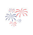 fireworks icon design template isolated vector image vector image
