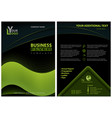 flyer template with neon green graphic elements vector image