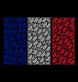 french flag collage of leaf branch icons vector image