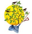 gardening equipment tools vector image