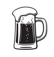 glass mug of beer hand drawn vector image vector image