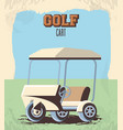 golf cart in the club vector image