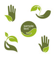 green hands vector image vector image