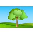 green tree with summer vector image