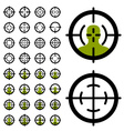 gun crosshair sight symbols vector image