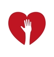 hand heart human help gesture fingers palm icon vector image vector image
