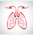 human lungs in pink ribbon shape color vector image vector image