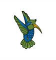 hummingbird mascot vector image