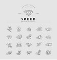 icon and logo for speed motion editable vector image