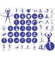 icons sport fitness vector image vector image