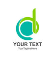 initial letter d logo template colored green vector image vector image