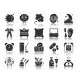 insomnia black silhouette icons set vector image vector image