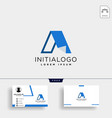 letter a creative logo template with business vector image vector image