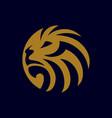 lion logo design vector image vector image
