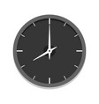 modern black clock icon single isolated vector image vector image