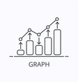 modern thin line infographic element on vector image vector image