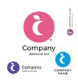 moon logo stylish beauty identity brand symbol vector image vector image