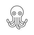 octopus icon set of ocean life line design vector image