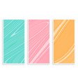 pastel color marble texture banners set vector image