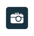 photo camera icon Rounded squares button vector image vector image