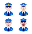 pilots on white background vector image vector image