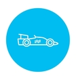 Race car line icon vector image