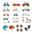 ride-on toys elements collection vector image vector image